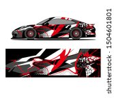 wrap race car. grunge abstract ... | Shutterstock .eps vector #1504601801