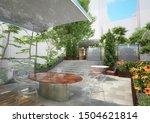 3d Rendering  Roof Garden  ...