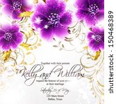 wedding invitation or card with ... | Shutterstock .eps vector #150468389