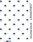 umbrella pattern design on...   Shutterstock . vector #1504695857