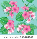 seamless floral fashion pattern ... | Shutterstock .eps vector #150470141