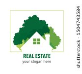real estate template logo with... | Shutterstock .eps vector #1504743584