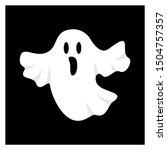 ghost  for halloween design... | Shutterstock .eps vector #1504757357