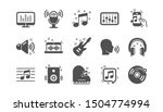 music icons. guitar  musical... | Shutterstock .eps vector #1504774994