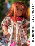 Closeup Of Vintage Dolls With...