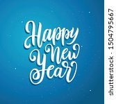 happy new year lettering... | Shutterstock .eps vector #1504795667