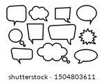 set of empty speech bubbles.... | Shutterstock .eps vector #1504803611