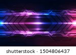 abstract futuristic digital... | Shutterstock .eps vector #1504806437