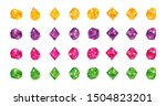 cartoon multicolor gems. gem...