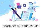 content writer. blog articles... | Shutterstock .eps vector #1504823234