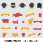 vector ribbons and labels | Shutterstock .eps vector #150488621