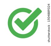 Checkmark Green Vector Isolated ...