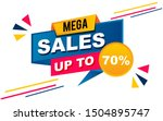 sale banner template design.... | Shutterstock .eps vector #1504895747