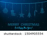 merry christmas and happy new... | Shutterstock .eps vector #1504905554