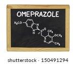 chemical formula of omeprazole... | Shutterstock . vector #150491294