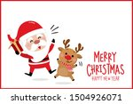 merry christmas and happy new... | Shutterstock .eps vector #1504926071