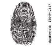 human fingerprint criminal... | Shutterstock .eps vector #1504942637