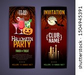 halloween disco cocktail party... | Shutterstock .eps vector #1504945391