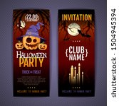 halloween disco party poster... | Shutterstock .eps vector #1504945394