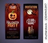 halloween disco party poster... | Shutterstock .eps vector #1504945397