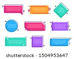 texting boxes. colored quote... | Shutterstock . vector #1504953647