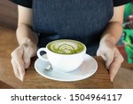 Coffee Cup With Green Matcha...