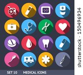 medical vector icons with long... | Shutterstock .eps vector #150496934