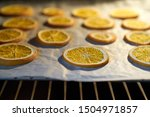 Oranges Drying In The Oven On A ...