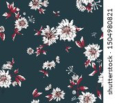 seamless floral pattern with... | Shutterstock .eps vector #1504980821
