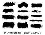 brush strokes. vector... | Shutterstock .eps vector #1504982477