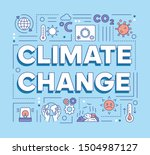 climate changes word concepts...