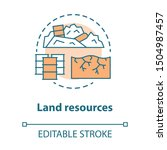 land resources concept icon.... | Shutterstock .eps vector #1504987457