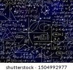 space scientific vector... | Shutterstock .eps vector #1504992977