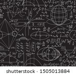 math scientific vector seamless ... | Shutterstock .eps vector #1505013884