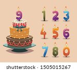 birthday cake with number... | Shutterstock .eps vector #1505015267