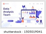 landing page template with... | Shutterstock .eps vector #1505019041