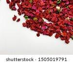Red Potpourri Petals.lying On...