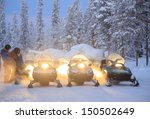 Snowmobile Engine Start On Sno...