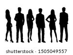 vector silhouettes of  men and... | Shutterstock .eps vector #1505049557