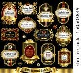 gold framed labels set 1 | Shutterstock .eps vector #150506849