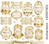 gold framed labels set 2 | Shutterstock .eps vector #150507851