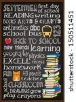 back to school chalkboard... | Shutterstock .eps vector #150511451
