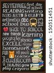 back to school chalkboard...   Shutterstock .eps vector #150511451