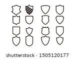 shield line logo icon vector... | Shutterstock .eps vector #1505120177