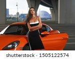 young beautiful caucasian woman ... | Shutterstock . vector #1505122574
