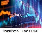 financial graph on technology... | Shutterstock . vector #1505140487