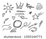 vector hand drawn collection of ... | Shutterstock .eps vector #1505144771