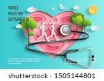 world heart day concept  ... | Shutterstock .eps vector #1505144801