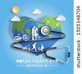 world heart day concept  family ... | Shutterstock .eps vector #1505148704