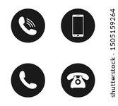 phone icon vector. call icon... | Shutterstock .eps vector #1505159264